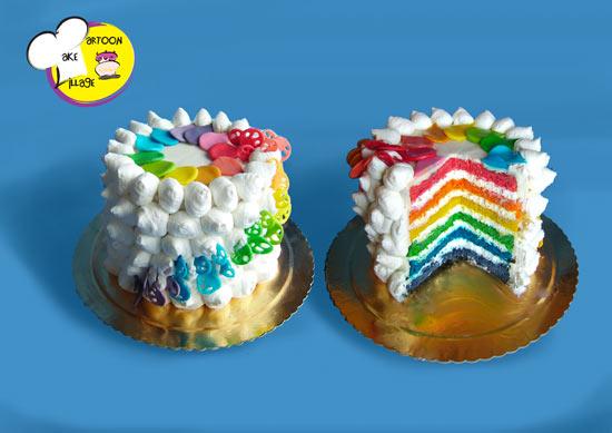 Renato Cake Design Ricetta Pasta Di Zucchero : Le vostre torte arcobaleno - Cakemania, dolci e cake design